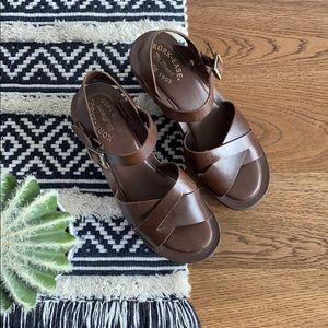 Kork ease original brown wedge sandal size 8